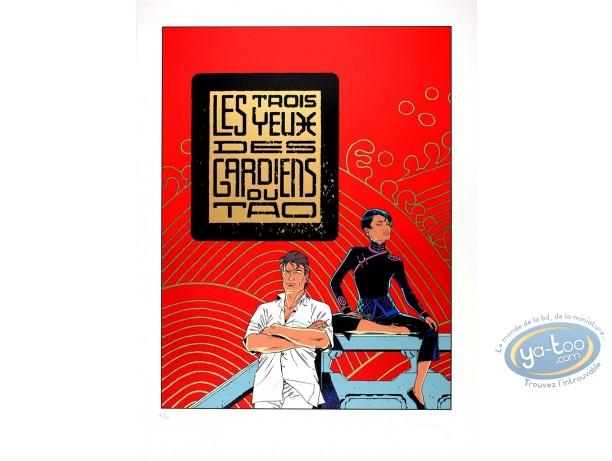 Serigraph Print, Largo Winch : The Tao Guardians' 3 eyes (golden variant)