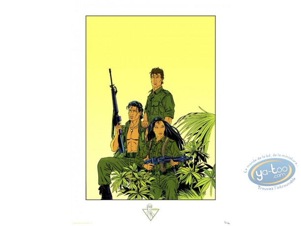 Serigraph Print, Largo Winch : The Tiger Hour