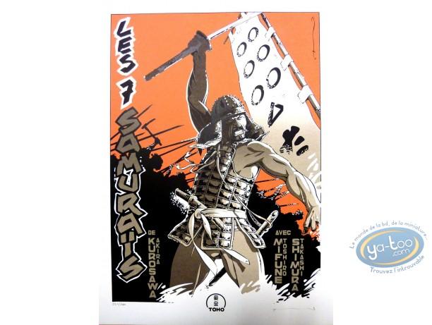 Serigraph Print, 7 Samouraïs (Les) : Les 7 Samourais