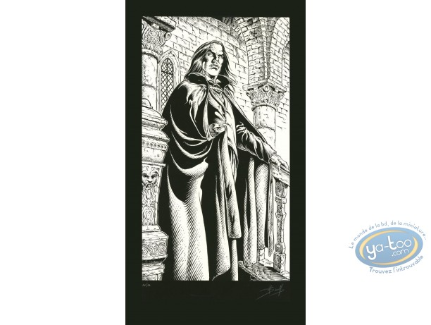 Serigraph Print, Prince de la Nuit (Le) : Kergan (b&w)