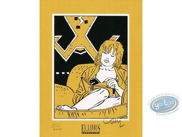 Bookplate Serigraph, Joyeux Noël May : May