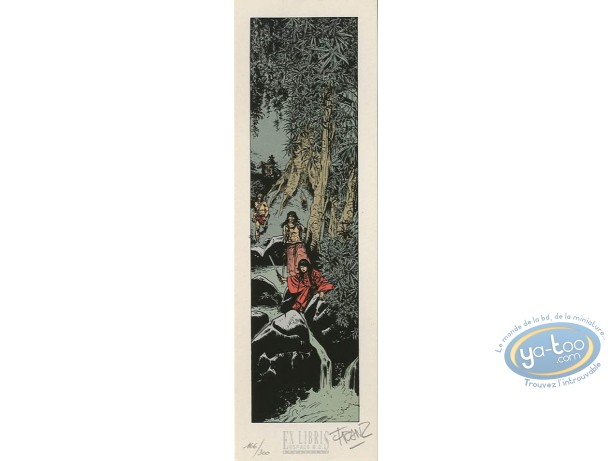 Bookplate Serigraph, Poupée d'Ivoire : The Forest