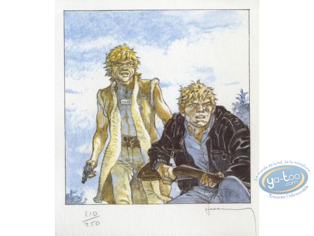 Bookplate Offset, Jérémiah : Jeremiah & Kurdy with guns