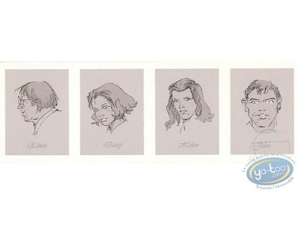 Bookplate Serigraph, Manhattan Beach 1957 : Galery of Porraits (variant)