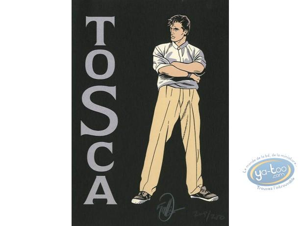 Bookplate Serigraph, Tosca : Vallès, Tosca