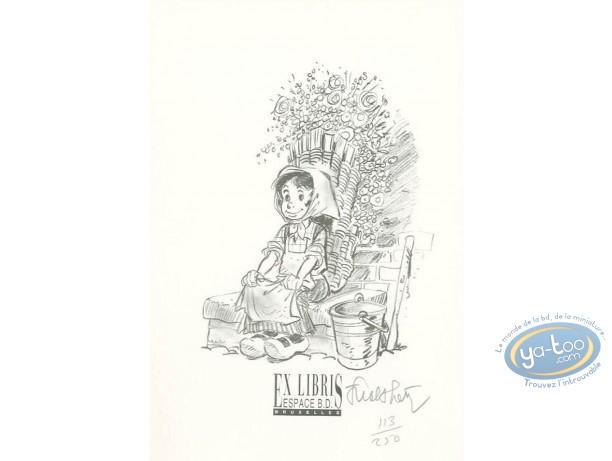 Bookplate Offset, Tchantchès : Little Girl