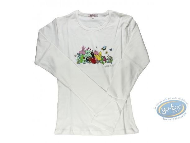Clothes, Barbapapa : T-shirt long-sleeve white  Barbapapa: size XS, family