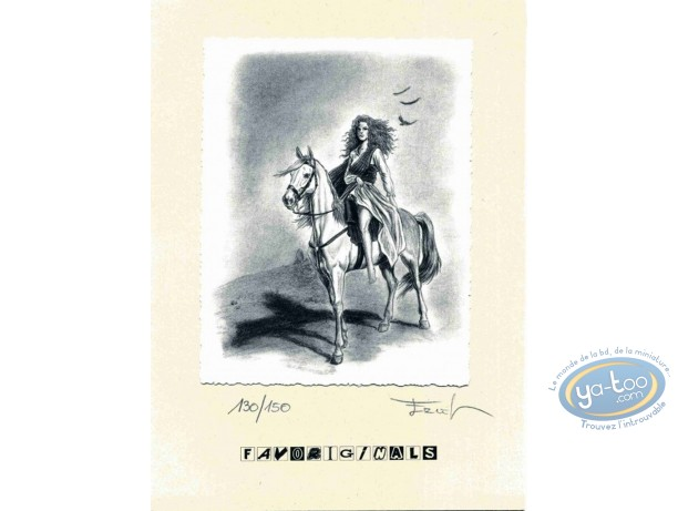 Bookplate Offset, Claymore : Riding a horse