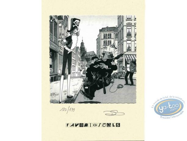 Bookplate Offset, Néron : Policeman & Pirate