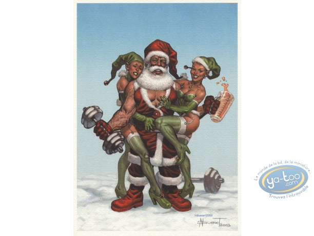 Bookplate Offset, Noël : Strong Santa Claus