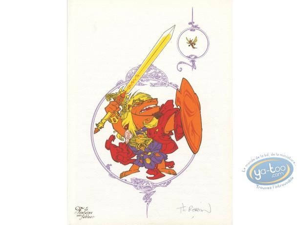 Bookplate Offset, Fontaine aux Fables (La) : The Lion & the Moucheron