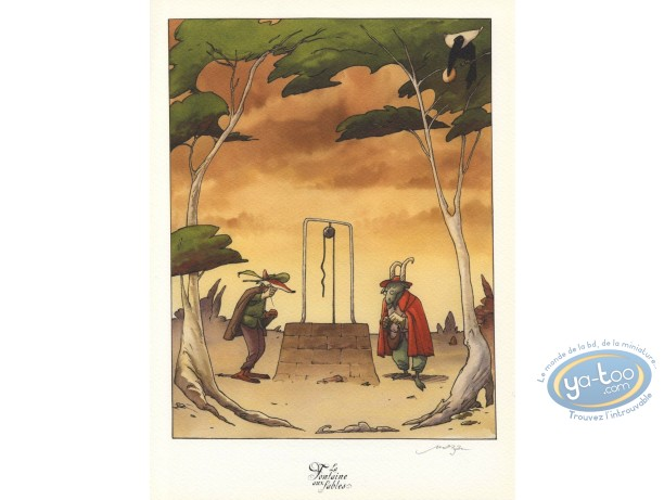 Bookplate Offset, Fontaine aux Fables (La) : The Fox and the Goat