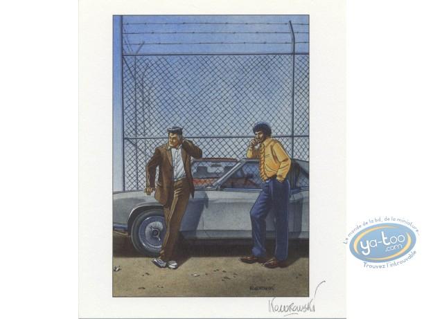 Bookplate Offset, Ocean City : Fence