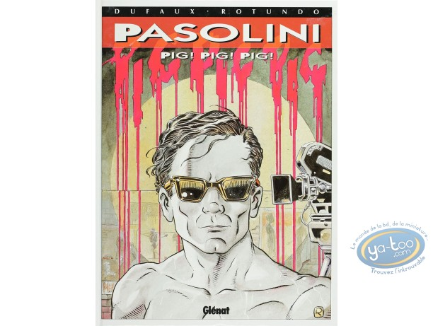 Listed European Comic Books, Pasolini : Pig! Pig! Pig! (good condition)