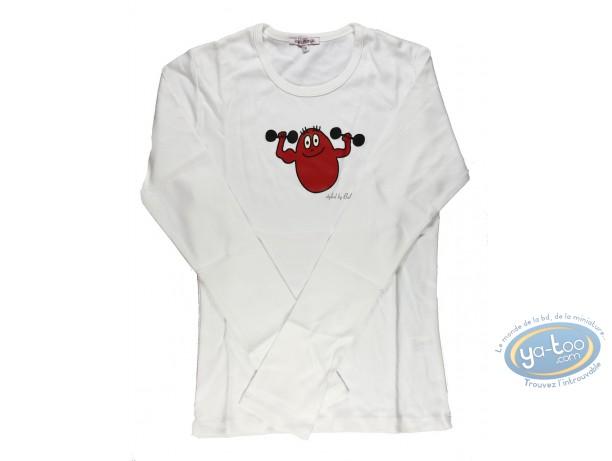 Clothes, Barbapapa : T-shirt long-sleeve white  Barbapapa: size XS, dump-bell