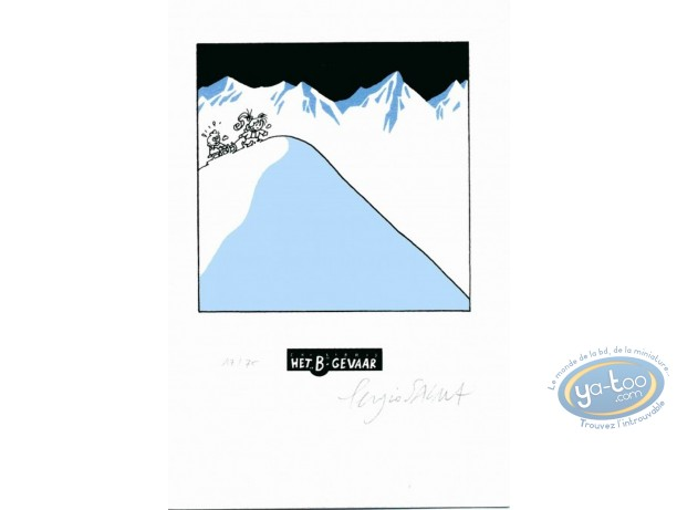 Bookplate Serigraph, Nathalie : The Sledge