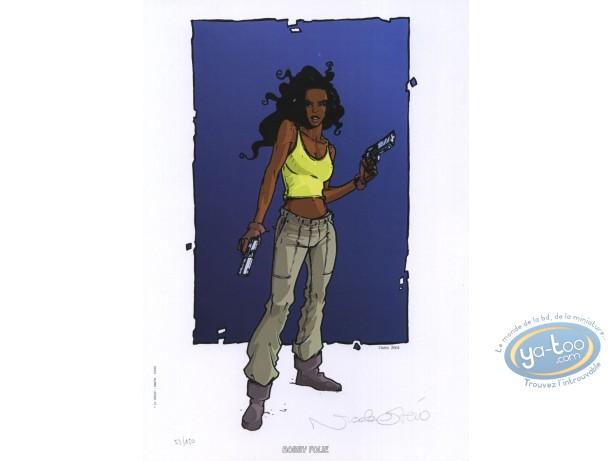 Bookplate Offset, Amerikkka : Black woman with guns