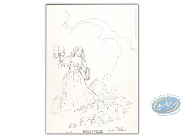 Bookplate Offset, Décalogue (Le) :  Woman with candlestick