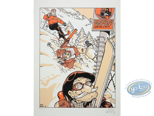 Serigraph Print, Double M : Winter Sports