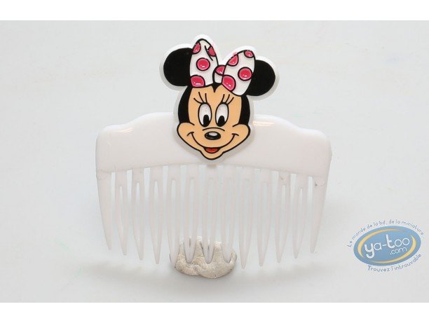 Fashion and beauty, Mickey Mouse : White comb Minnie's face, Disney