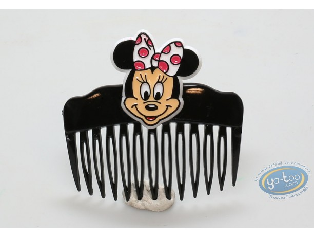 Fashion and beauty, Mickey Mouse : Black comb Minnie's face, Disney