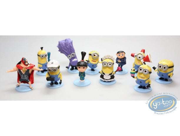 Plastic Figurine, Despicable Me : Set of 11 figurines Despicable Me