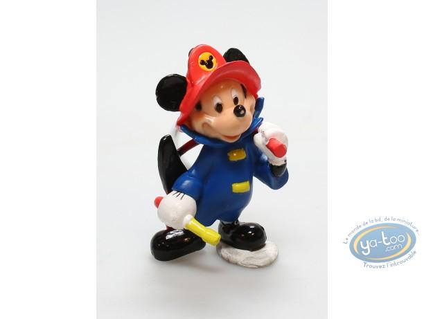 PVC Keyring, Mickey Mouse : Keyring Mickey fireman, Disney