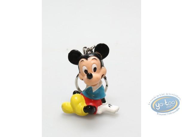 PVC Keyring, Mickey Mouse : Keyring Mickey sitting, Disney
