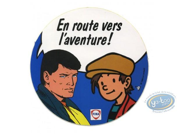 Bookplate Offset, Michel Vaillant : Nino and Michel Vaillant