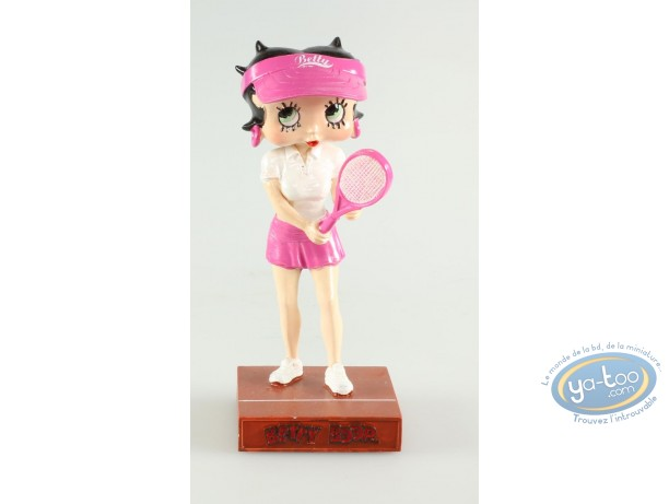 Resin Statuette, Betty Boop : Betty Boop Tennis player