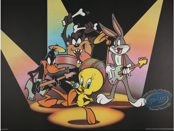 Offset Print, Looney Tunes (Les) : Roll over Beethoven 60X80 cm