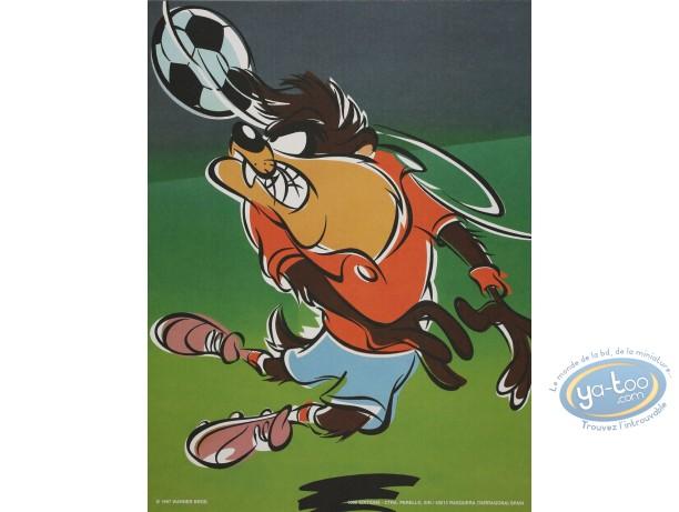 Offset Print, Taz : Soccer madness 40X30 cm