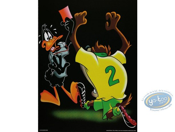 Offset Print, Looney Tunes (Les) : Red card ? 40X30 cm