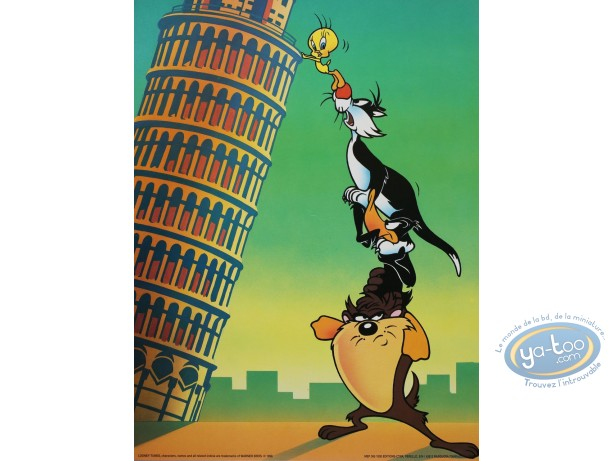 Offset Print, Looney Tunes (Les) : Italian holiday 40X30 cm