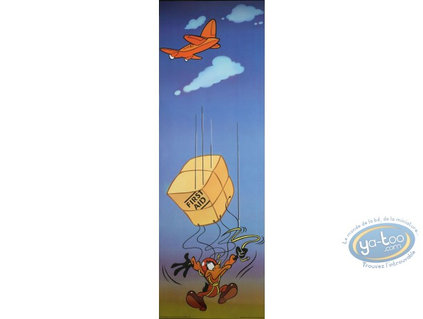 Offset Print, Daffy Duck : First aid 90X30 cm