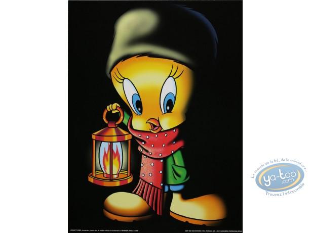 Offset Print, Titi : Tweety with a lantern 40X30 cm