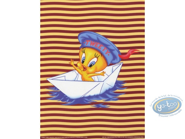 Offset Print, Titi : Tweety sailor 40X30 cm