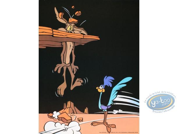 Offset Print, Vil Coyote : Bip-Bip & Wile E Coyote 40X30 cm