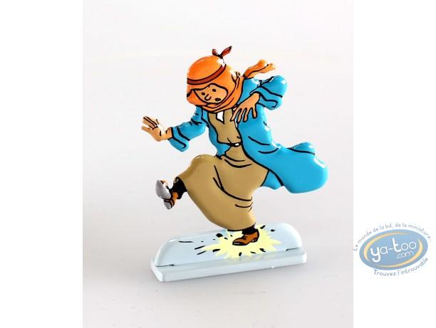 Metal Figurine, Tintin : Tintin au pays de l'or noir (bas relief)