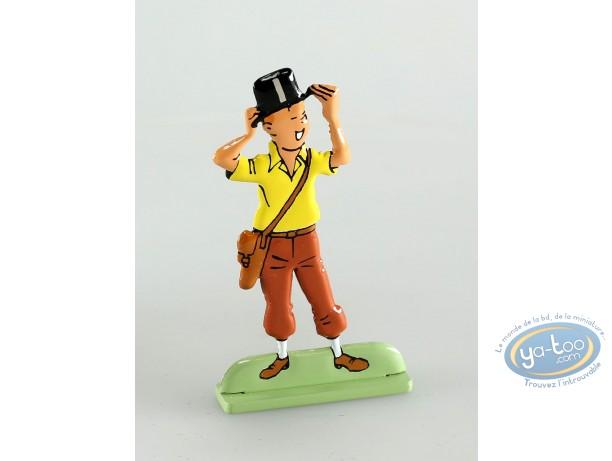 Metal Figurine, Tintin : Les cigares du pharaon (bas relief)