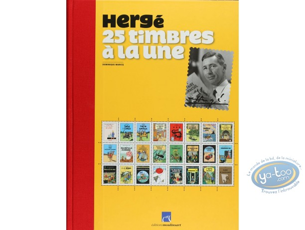Album + Stamp, Tintin : Herge 25 timbres a la une