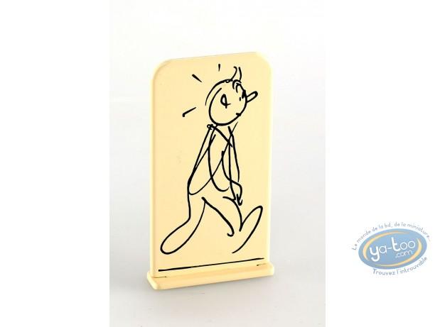 Metal Figurine, Tintin : Tintin and Alph-Art (bas-relief)