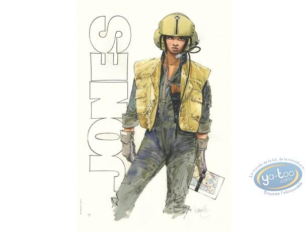 Stencil, XIII : Major Jones with helmet