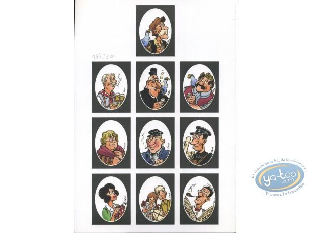 Bookplate Offset, Vieux Bleu (Le) : Portraits