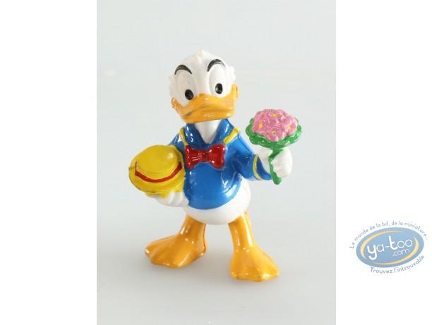 Plastic Figurine, Mickey Mouse : Donald bouquet, Disney