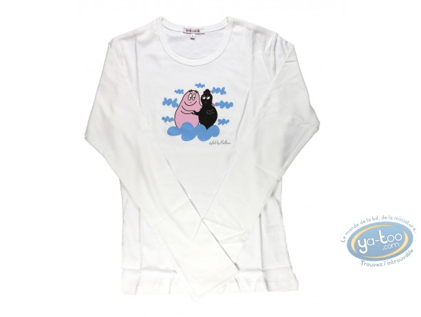 Clothes, Barbapapa : T-shirt long-sleeve white Barbapapa: size XS, dad and mum