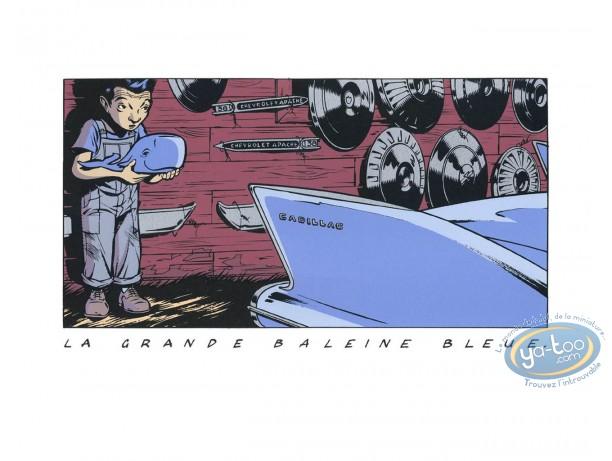 Serigraph Print, Bitume : The big blue whale