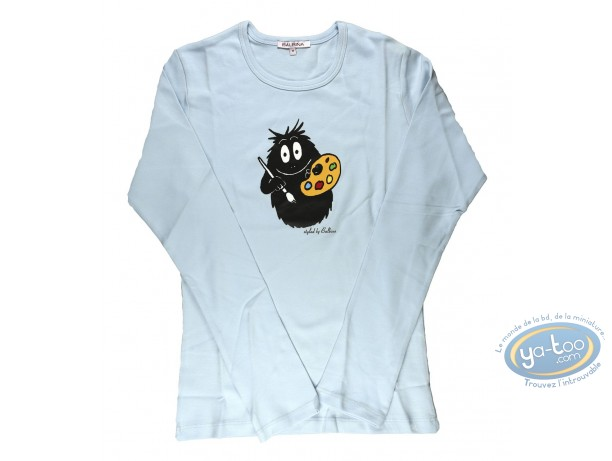 Clothes, Barbapapa : T-shirt long-sleeve light blue Barbapapa: size XS, painter