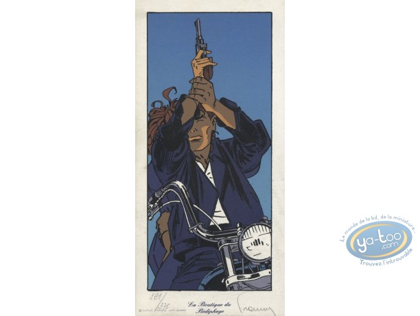 Bookplate Serigraph, Largo Winch : Ready to shoot