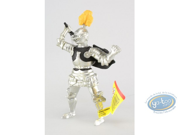 Plastic Figurine, Knight with sword, black doublet